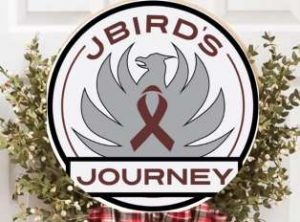 Jbirdsjourney logo over greenery