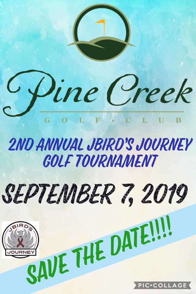 2nd Annual JBird' sJourney Golf Tournament Flyer - 7 Sep 2019